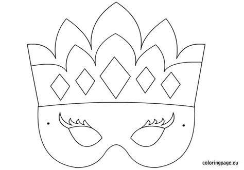 Princess Cut Out Template by Princess Mask Template Carnival Coloring