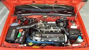 Red 1987 Honda Civic Crx Si