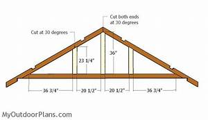 free 12x16 shed roof plans myoutdoorplans free With 16 ft trusses