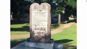 Arkansas Installs Ten Commandment Monument