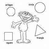 Coloring Shape Shapes Pages Print Printable Sesame Zoe Simple Colouring Street Paper Worksheets Sheet Colour Colors Preschool Basic Numbers Figuras sketch template