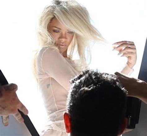 on set of rihanna s 'nude photo shoot
