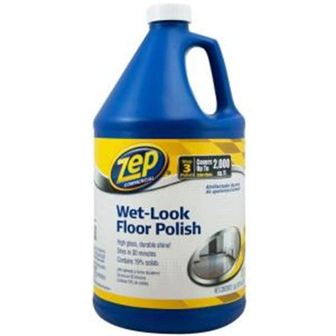 home depot zep floor wax zep 128 oz wet look floor polish zuwlff128 the home depot
