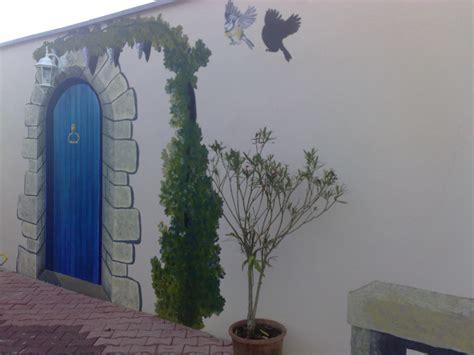 deco pour cuisine fresque sur mur extérieur