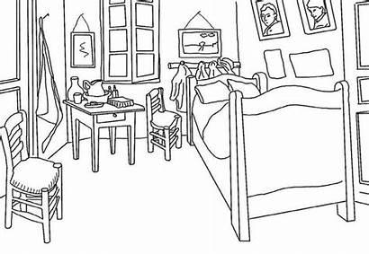Gogh Van Bedroom Arles Coloring