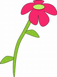 Pink and Green Droopy Flower Clip Art - Pink and Green ...