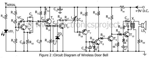 Electronic Bell Circuit Diagram by Circuit Diagram Of Wireless Door Bell Electronics Project