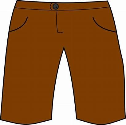 Shorts Clipart Pants Short Mens Cartoon Transparent