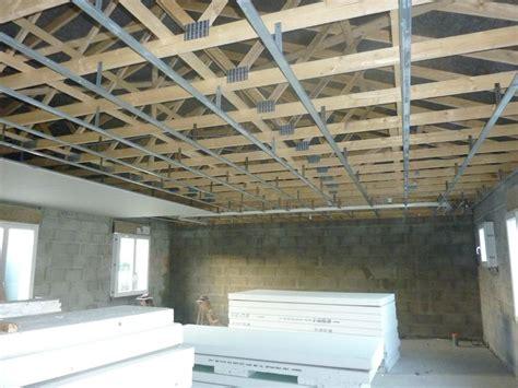 plafond en placo sur rail plafond rail et placo construction maison sp