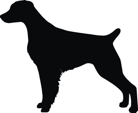 brittany silhouette spaniel dog tack box decal smooth surface personalize too any