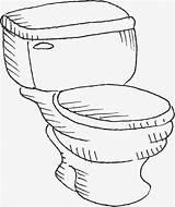 Toilet Bowl Drawing Getdrawings Closestool Hand sketch template