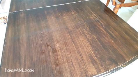 refinished  wood veneer table top