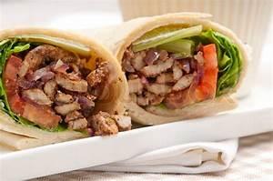 Kafta shawarma chicken pita wrap roll sandwich traditional ...