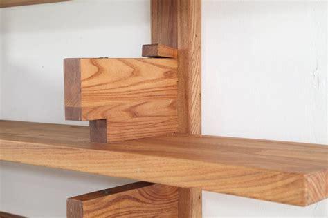 mid century modern four shelf rosewood open bookcase circa chapo wall mounted book shelves circa