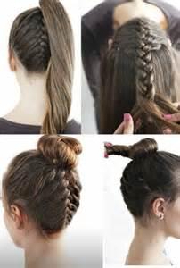 coiffure facile  faire soi meme pour cheveux mi long