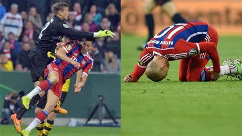 Er müsse sich jetzt ausruhen und gut schlafen. FC Bayern nach DFB-Pokal-Aus: Robben und Lewandowski verletzt