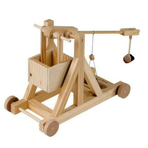 timberkits trebuchet working wooden model construction kit automata ebay