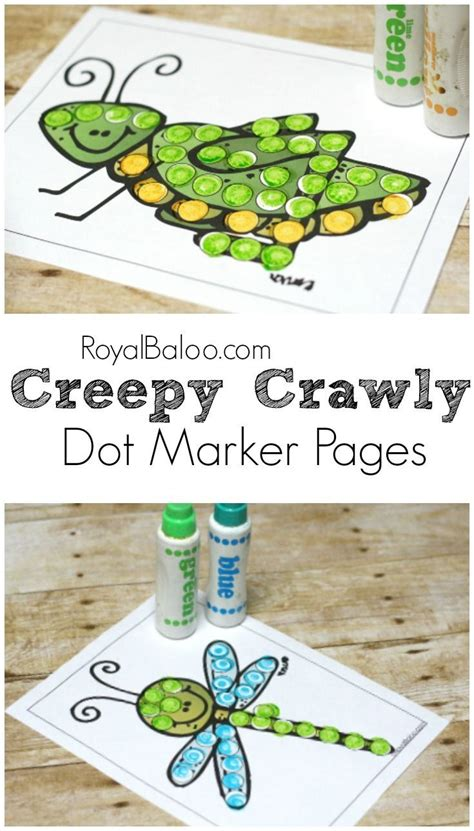 creepy crawly dot markers free printables 552 | 90f0266061a970325e3de1abc3dbec47
