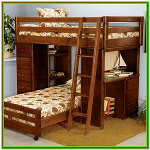 Twin, Over, Full, Bunk, Bed, With, Desk, Uk