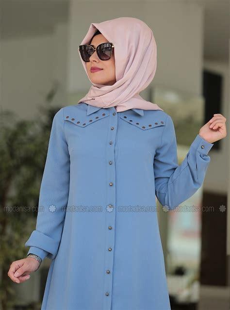 tunique longue en jean astuces hijab