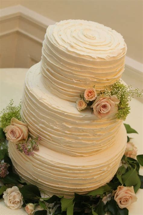 ruffled buttercream wedding cakes google search