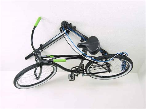 Ceiling Bike Rack Horizontal by The Horizontal Floaterhoist Lets You Hang Your Bike From