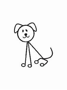 Dog Stick Figure Decal