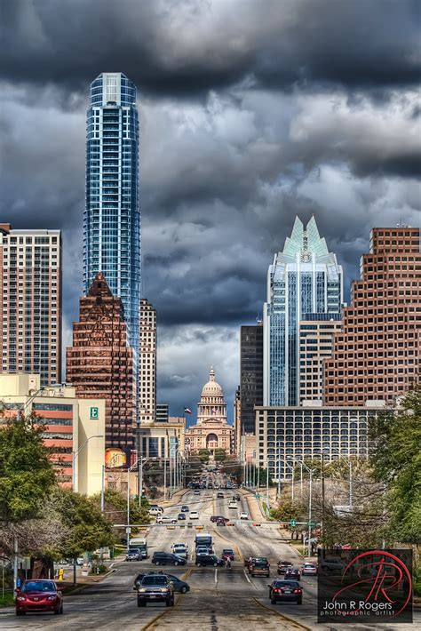 cloudy congress austin skyline march