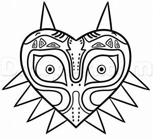 How to Draw Skull Kid Easy, Step by Step, Video Game ...