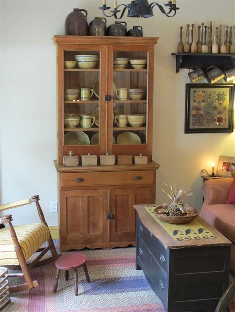 primitive living room primitives and cupboards on pinterest