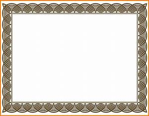 7+ certificate border design vector   commerce invoice