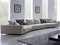 oversized sectional sofas Contemporary White Oversized Fabric Sectional Sofa w ...