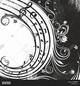 black and white music background Stock Vector & Stock ...