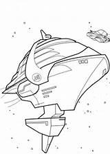 Coloring Spaceship Rock Carnival Coloringtop sketch template