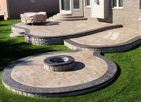 Cement Patio Designs by Sted Concrete Patio Ideas Gardening Flowers 101