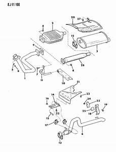 1989 Jeep Exhaust System Wrangler  Yj