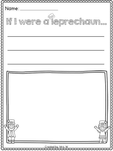 st patricks day literacy  math printables kindergarten     leprechaun