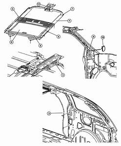 2006 Chrysler Town  U0026 Country Channel  Sunroof Drain  Trim