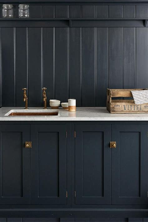 photos of kitchen cabinets devol s shaker kitchen pantry blue with carrara marble 4164