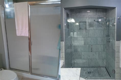 before and after bathroom remodel photo gallery of before