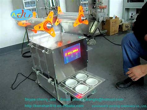 semi automatic cup sealing machine youtube