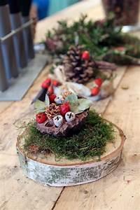 Basteln Mit Baumscheiben : aus baumscheiben und herbstsch tzen entstehen kleine ~ Watch28wear.com Haus und Dekorationen