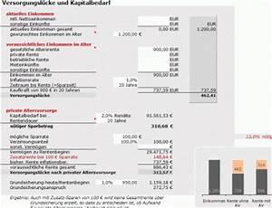 R V Autoversicherung Berechnen : excel rechner altersvorsorge versorgungsl cke gehaltumwandlung zinsen und rendite ~ Themetempest.com Abrechnung