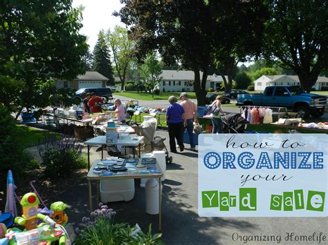 How To Have A {very} Successful Yard Sale Organizing