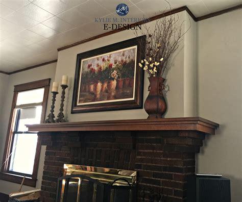 best paint color for dark wood trim brick fireplace