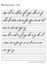 Copperplate Calligraphy Practice Sheets Printable