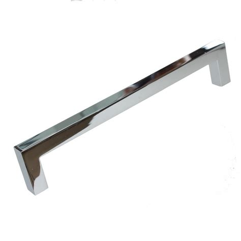 Chrome Cabinet Pull by Gliderite 6 1 4 In Solid Square Slim Polished Chrome