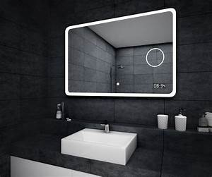 beau miroir salle de bain lumineux led interrupteur With miroir salle de bain lumineux led