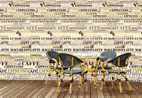 coffee shop photo wallpaper wall artcom