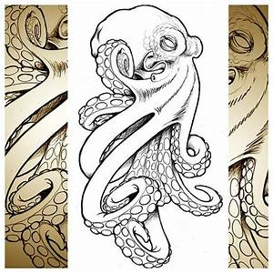 cool octopus I whipped up for a client. #tattoo #technique ...